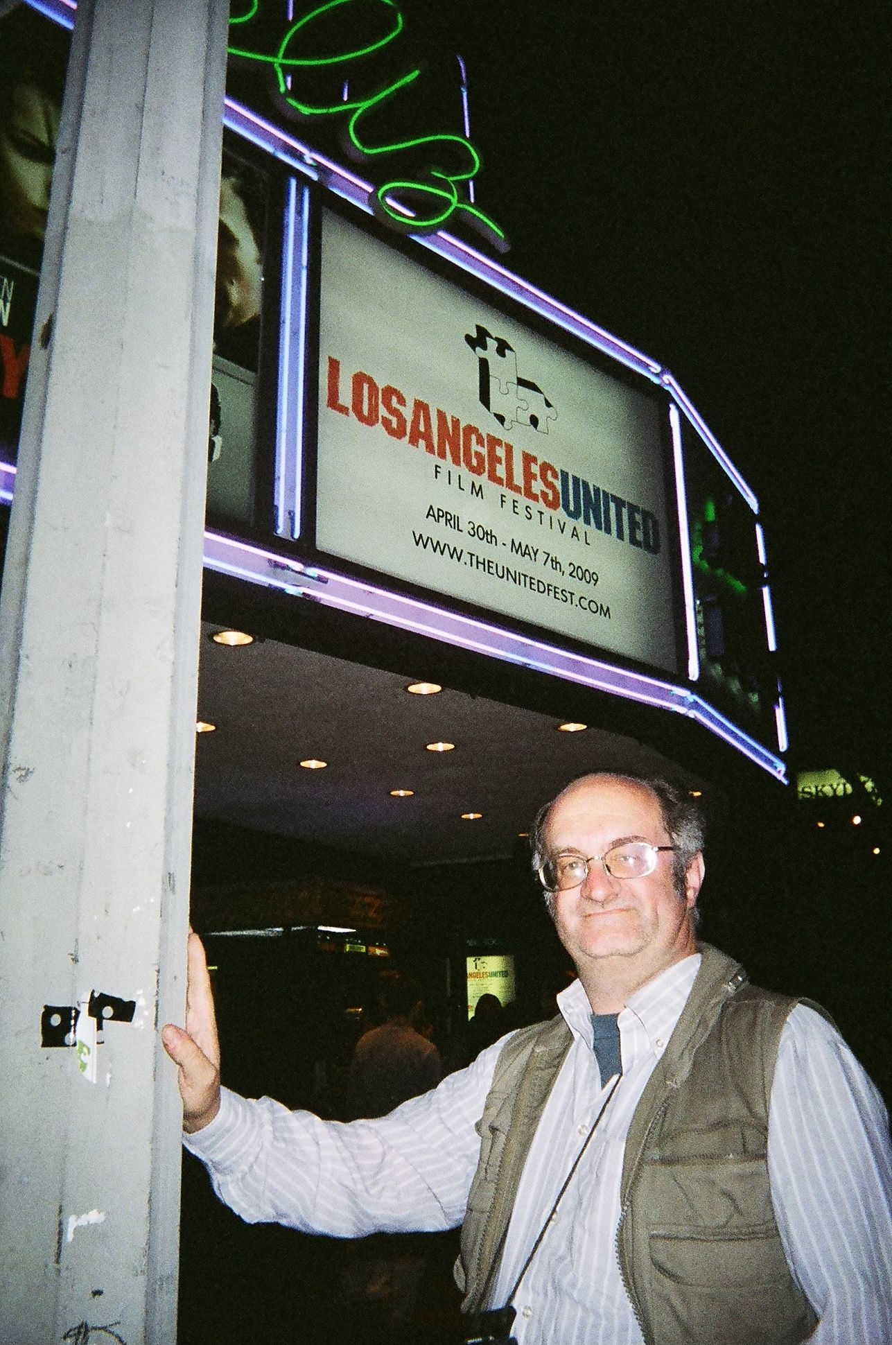 Attending the 2009 Los Angeles United Film Festival ''Strictly Background'' screening