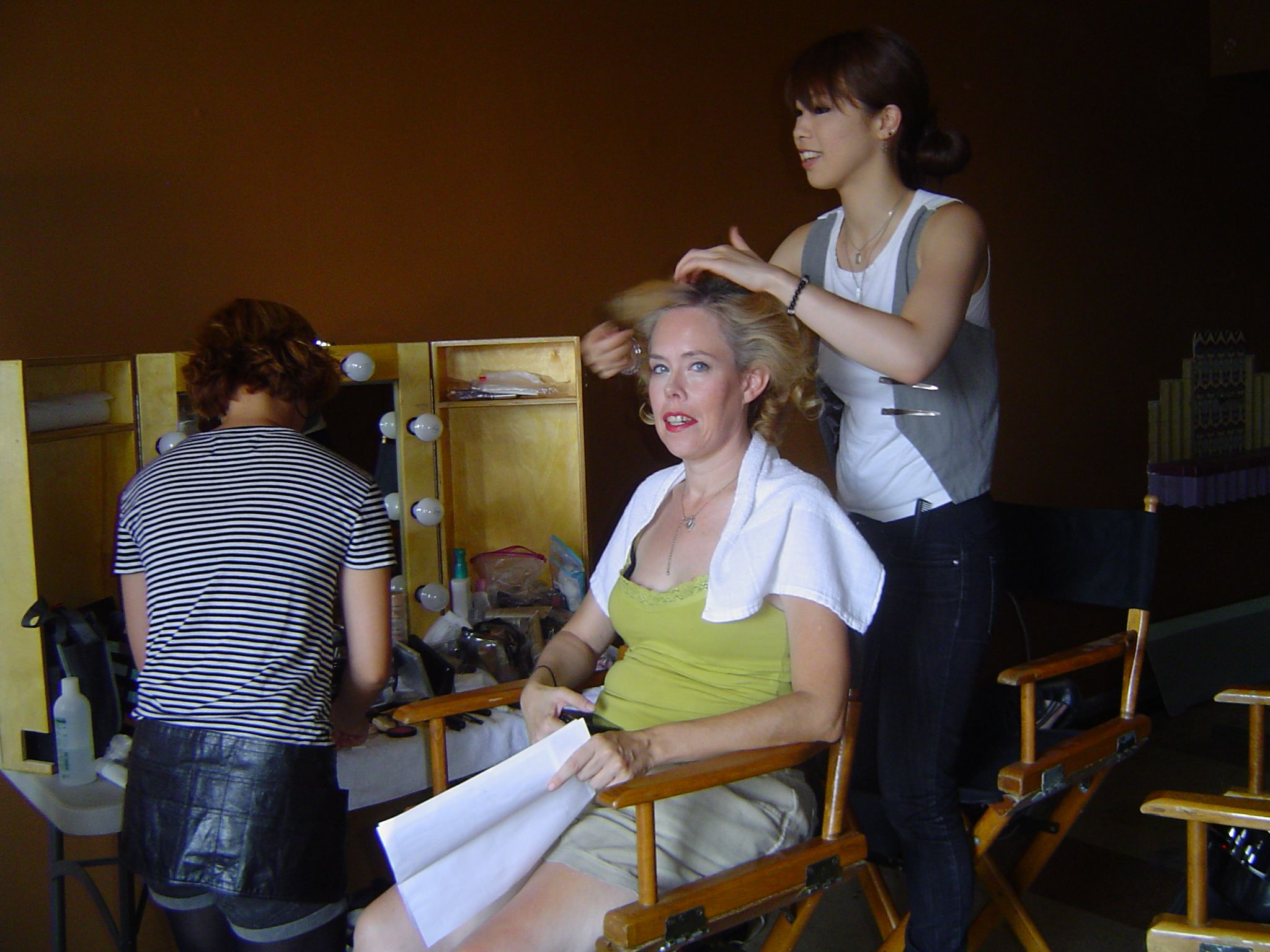 Maria Olsen in make-up for We Are The In Crowd music video ''Rumor Mill.''