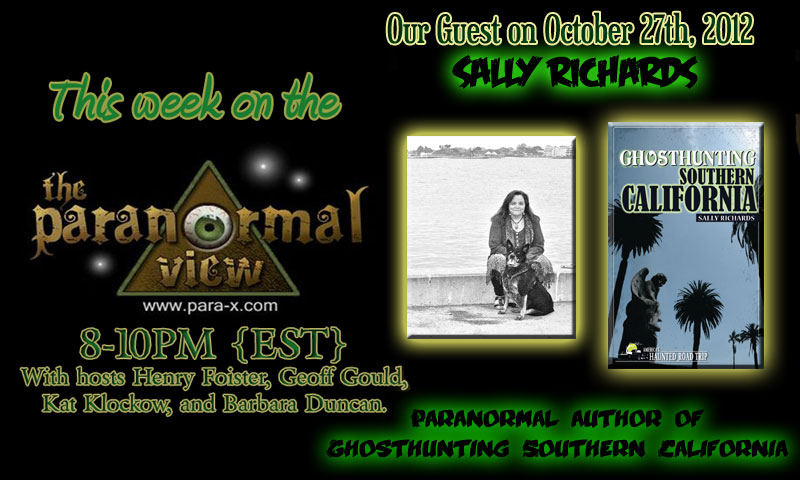 Sally Richards; Paranormal View 27 October 2012