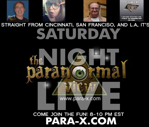 Henry, Geoffrey, Kat and Ceiling Cat Barbara: The Paranormal View hosts