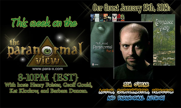 Lori Manns, January 19, 2013 guest on The Paranormal View