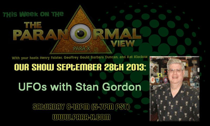 Stan Gordon, September 28, 2013 guest on The Paranormal View