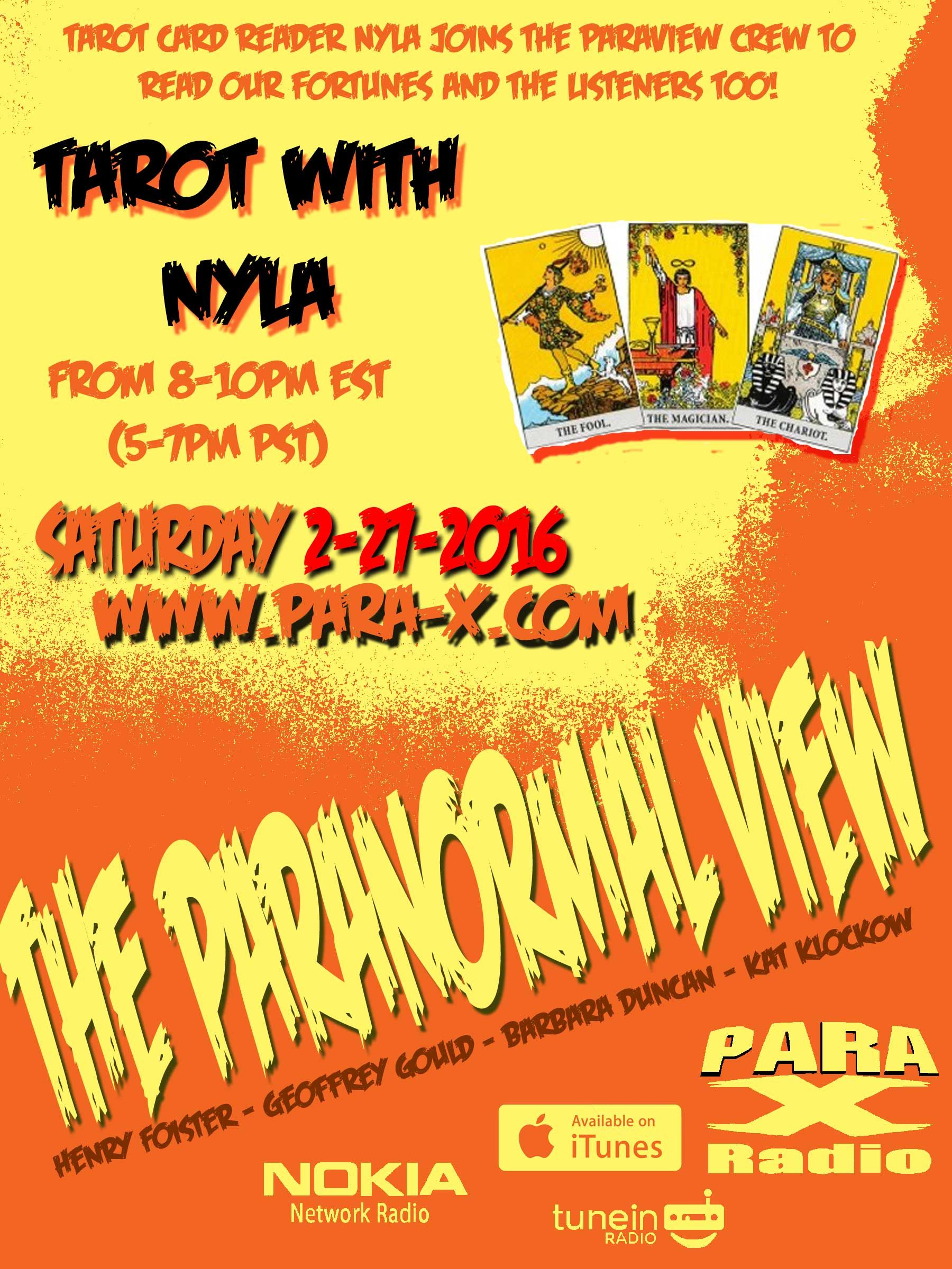 The Paranormal View 27 February 2016 edition with guest Nyla of the Night
