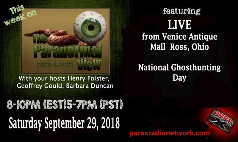 Hennry live at Venice Antique Mall in Ross, Ohio for National Ghosthunting Day