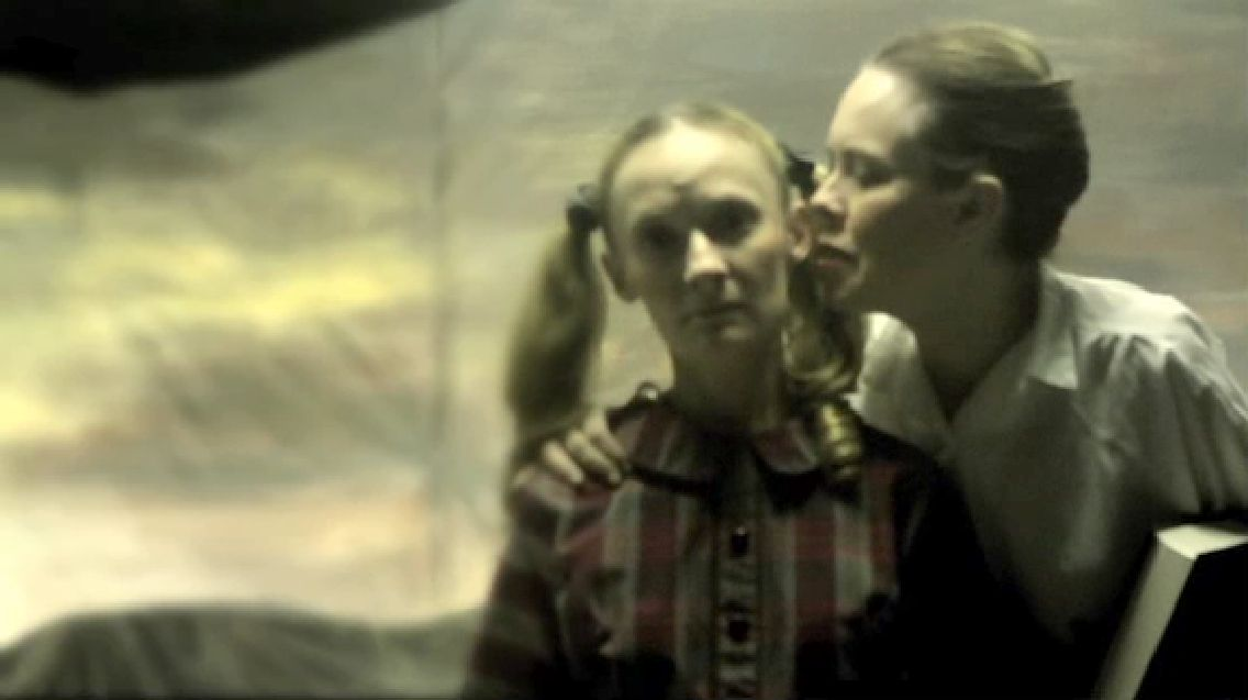 Jonica Patella and Maria Olsen in Motionless in White music video ''Abigail.''