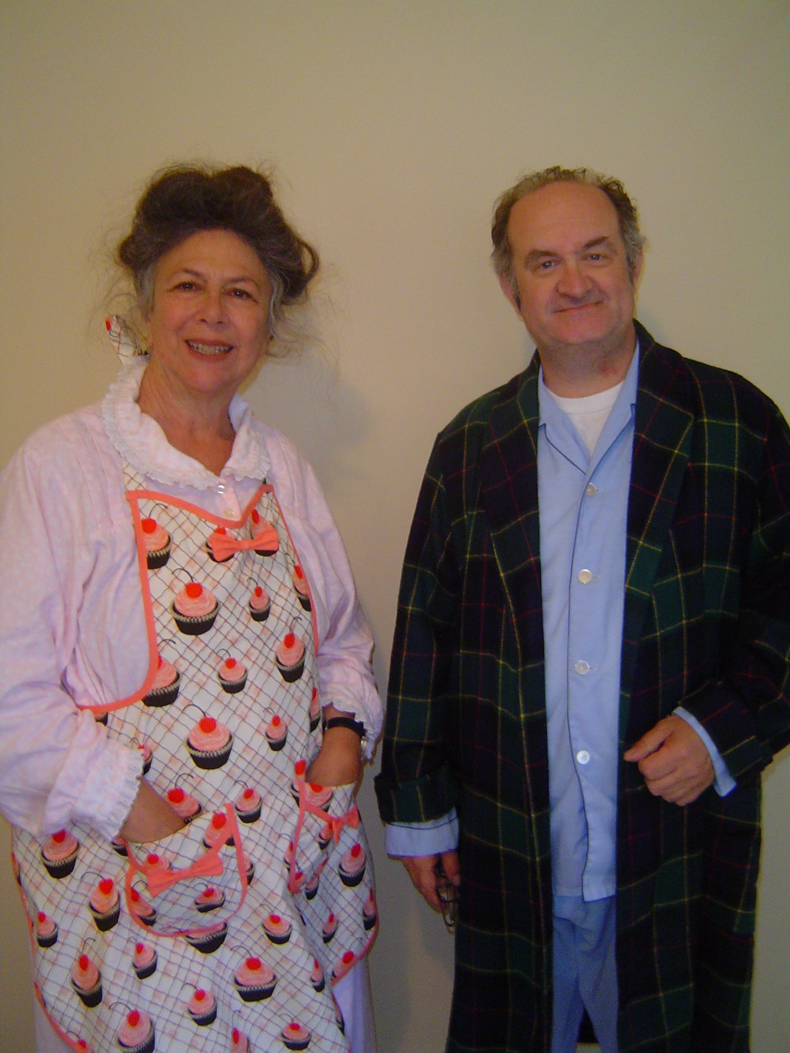 Rhoda Pell and Geoffrey Gould working on the USC student film ''Sweet Tooth''