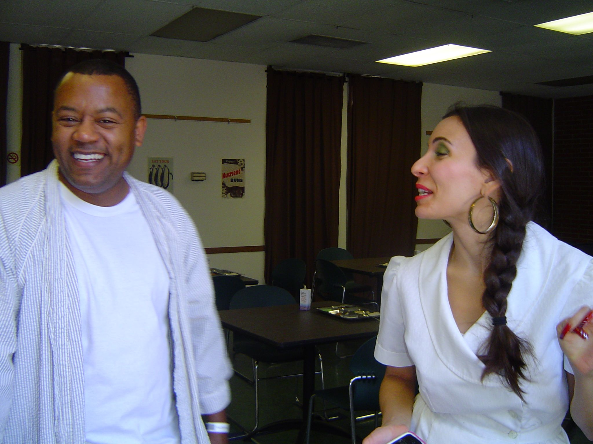 Barak Dada and Kyla Garcia working on the USC student film ''Sweet Tooth''