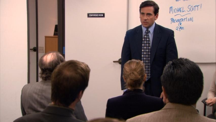 Steve Carell in ''The Office'' episode 5.15