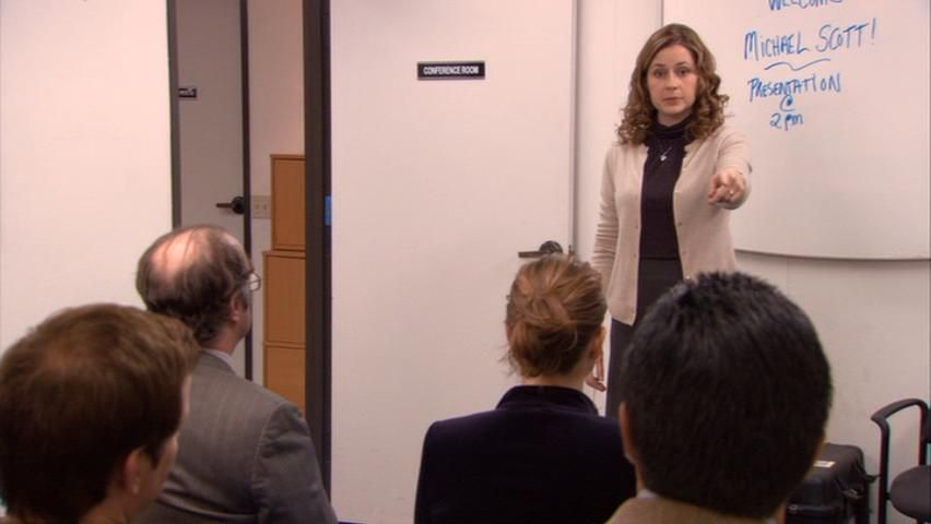 Jenna Fischer in ''The Office'' episode 5.15