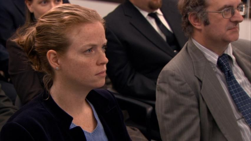Claire Scanlon working on ''The Office'' episode 5.15
