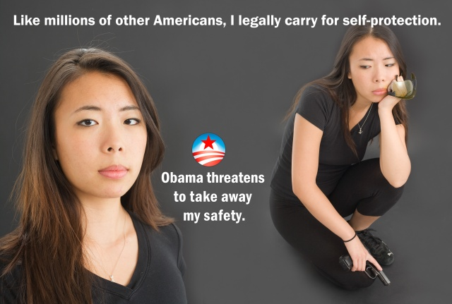 Like millions of other Americans, legally carry for self-protection: Kenyan-born Arab-American Obama intends to take away your safety