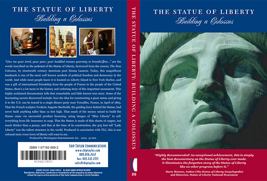 ''Statue of Liberty: Building of a Colossus'' dvd cover