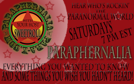 Paraphernalia; Saturday nights at 7pm eastern, 4pm pacific