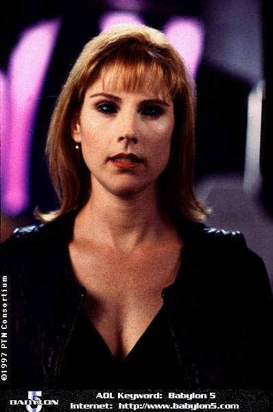 Patricia Tallman on ''Babylon 5,'' with contacts that are the way BEKs look