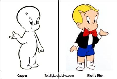 Casper is the ghost of Richie Rich
