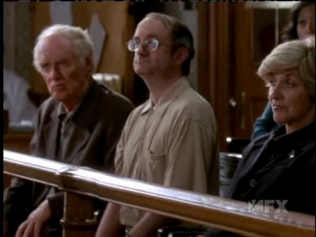 Geoffrey Gould as the Comb-Over Juror on ''The Practice''