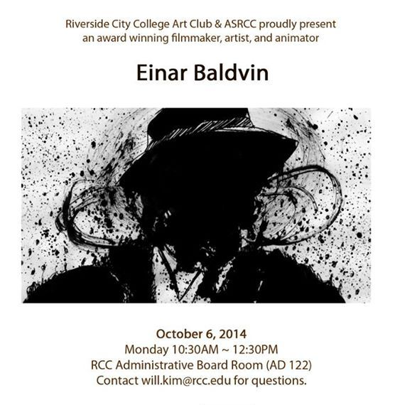 Einar Baldvin to be presented as Guest Artist of the Semester at RCC