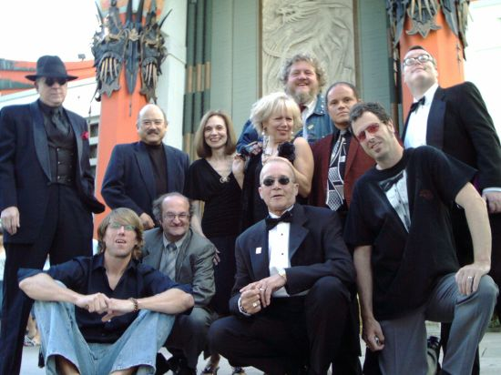 Geoffrey Gould with ''Strictly Background'' cast at the Chinese Theatre