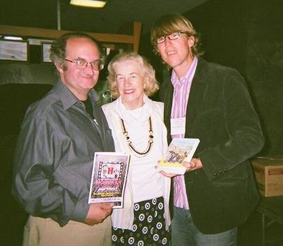 Geoffrey Gould with mother Jeannette Gould and director Jason Connell for ''Strictly Background'' screening at Hoboken Film Festival