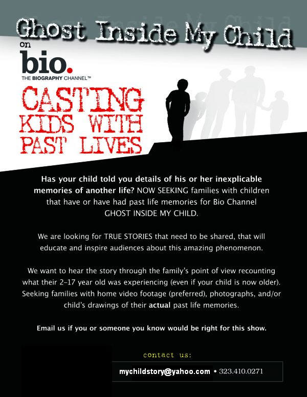 ''The Ghost Inside My Child'' Casting Call