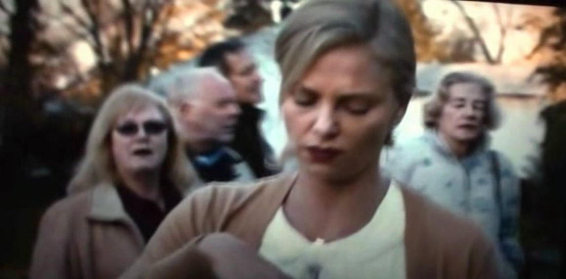Jeannette Gould in the background of ''Young Adult''